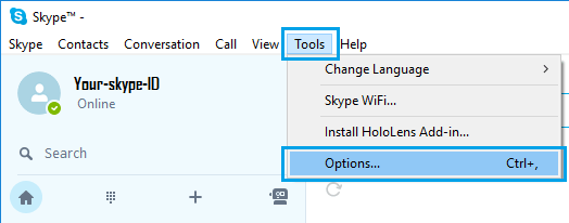 skype, skype settings, tools