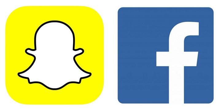 snapchat ,facebook
